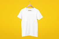 Мужская футболка белая хлопок для нанесения надписей и принтов методом шелкографии или для прямой печати