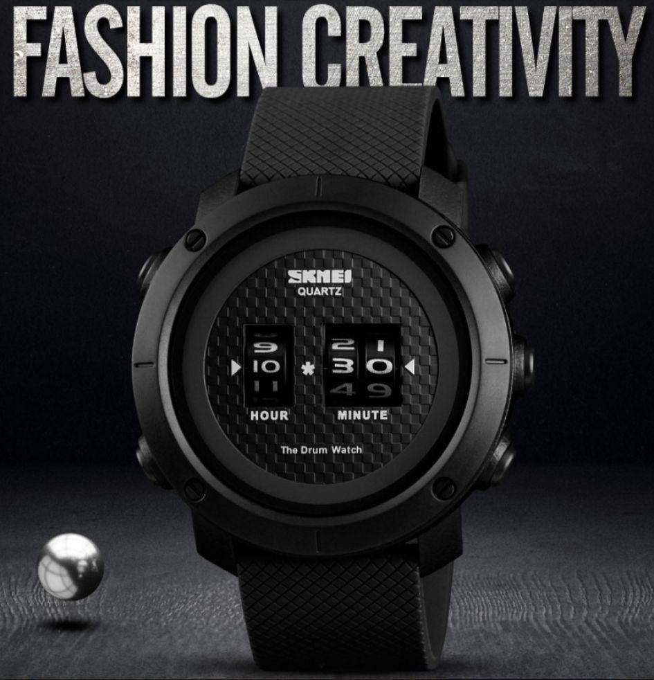 Skmei 1486 drum черные мужские часы