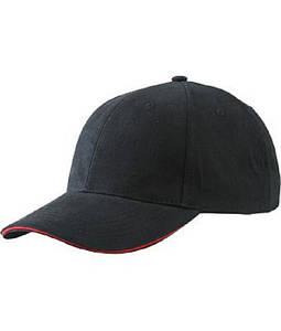 Бейсболка легкая Черный / Красный