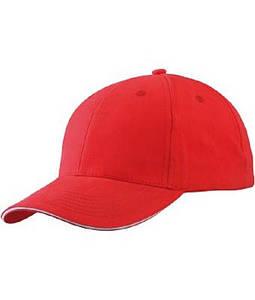 Бейсболка легка Червоний / Білий