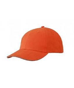 Бейсболка легкая Темно-Оранжевый / Бежевый