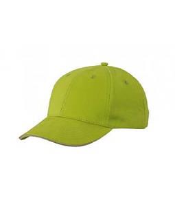 Бейсболка легкая Лайм-Зеленый / Бежевый