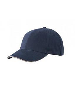 Бейсболка легка Темно-Синій / Беж