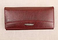 Женский кожаный кошелек застежка магнит Kochi бордовый 806DR