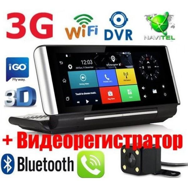 GPS навигатор-Видеорегистратор 7 дюймов GPS Pioneer CM84 DVR PRO 1GB/16GB + AV Андроид Full HD с картами 2019