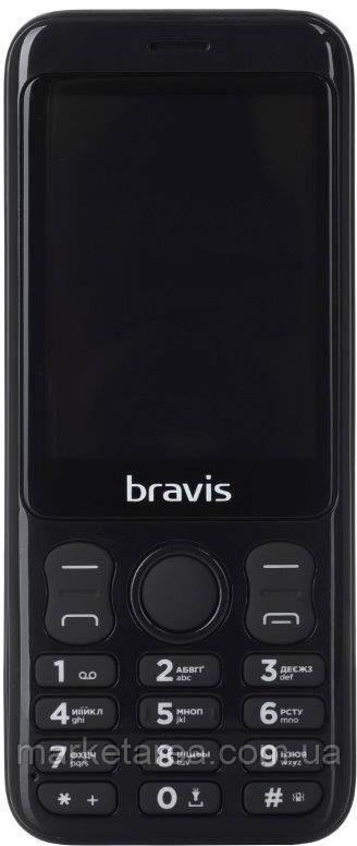Кнопочный телефон BRAVIS C281 Wide Dual Sim black