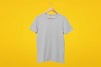 Мужская футболка серая хлопок для нанесения надписей и принтов методом шелкографии или для прямой печати
