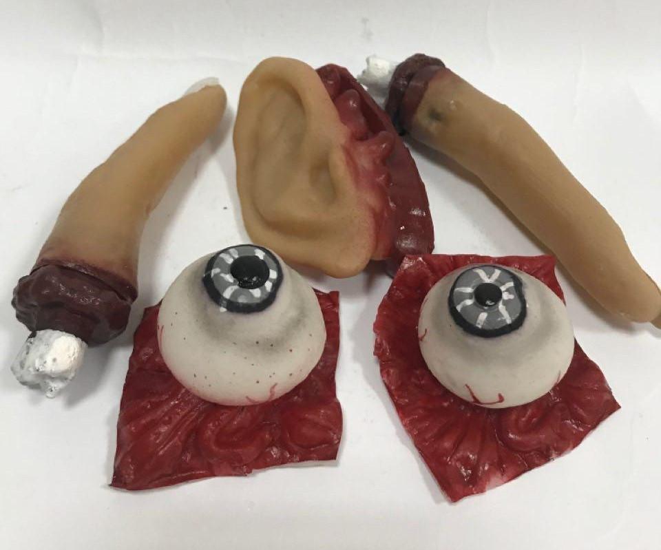 Части тела на Хэллоуин (глаза, пальцы, ухо)