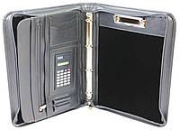 Папка с калькулятором из эко кожи AMO SSBW04 серый