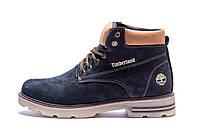 Мужские зимние кожаные ботинки Timberland Blue Shoes  (реплика), фото 1