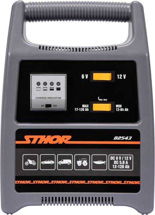 Зарядное устройство для аккумуляторов 6 / 12 В 8A 120Ah светодиодный индикатор заряда - STHOR