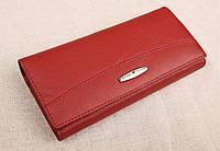 Женский кожаный кошелек Kochi тёмно красный 806R