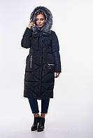 Молодежная Зимняя женская куртка-пальто (46-56), доставка по Украине