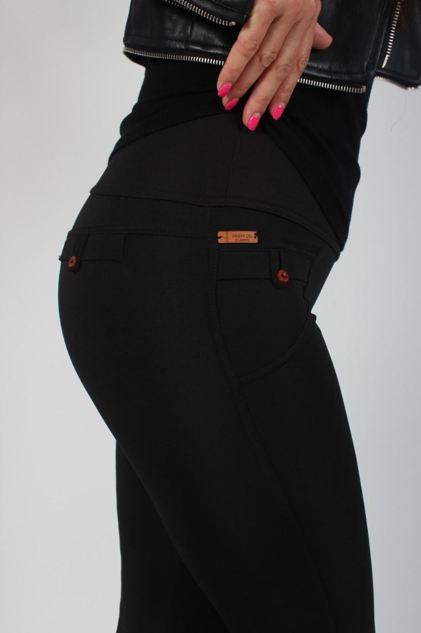 Лосины женские микродайвинг черные №471 с обманчивыми карманами