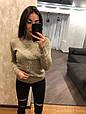 Качественный теплый свитер Фламинго 7202 беж (42-46), фото 3