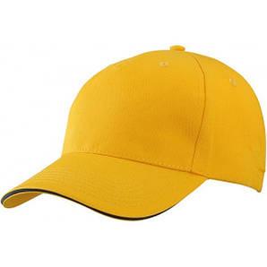 Бейсболка пятипанельная Жёлтый / Тёмно-Синий