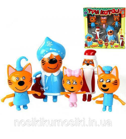 Игровой набор Три кота - Новый Год, 5 героев