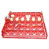 Красный лоток автоматического переворота для инкубатора на 36 (144) яиц с мотором, фото 3