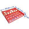 Красный лоток автоматического переворота для инкубатора на 36 (144) яиц с мотором, фото 2