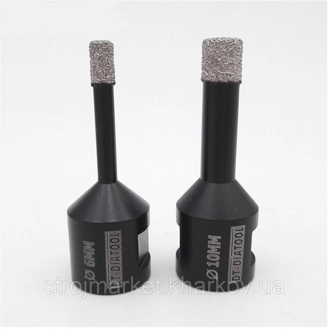 Алмазная коронка вакуумного спекания 6 мм Shdiatool (М14) УШМ