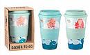 Кофейная кружка to go becher 350ml bambus Mermaid, фото 3