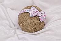 "Повязка ""Бантик"", Сердечки розовые, 42-48 48-56 см"