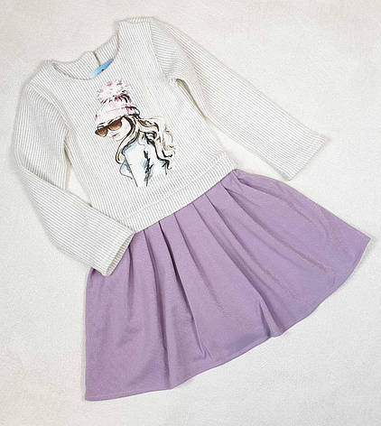 Детское платье для девочки  с принтом р.92-110 опт, фото 2