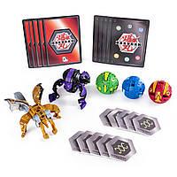 Большой игровой набор №1 из 5 Бакуганов Bakugan Darkus Hydorous and Aurelus Gargarnoid Spin Master