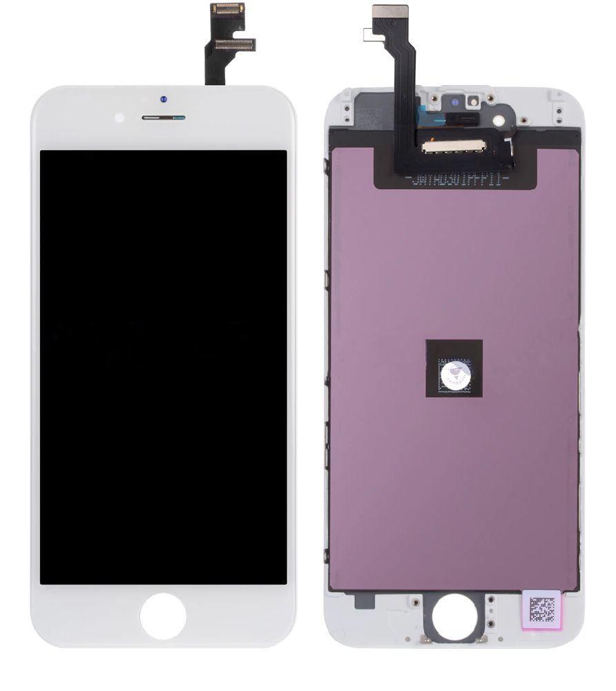 Дисплей (экран) для телефона Apple iPhone 6 + Touchscreen (переклеено стекло, original) White