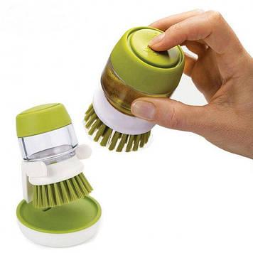 Щетка для мытья посуды с дозатором Soap Brush