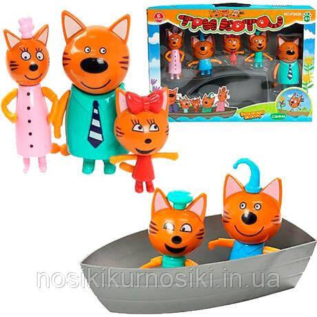 Ігровий набір Три коти — 5 героїв, човен