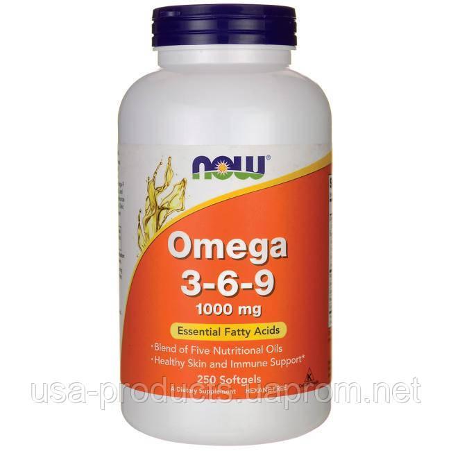 Омега 3 6 9 250 капсул 1000 мг США