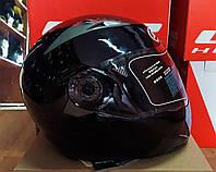 Шлем трансформер модуляр Jei Kai чёрный глянец размер M 57-58