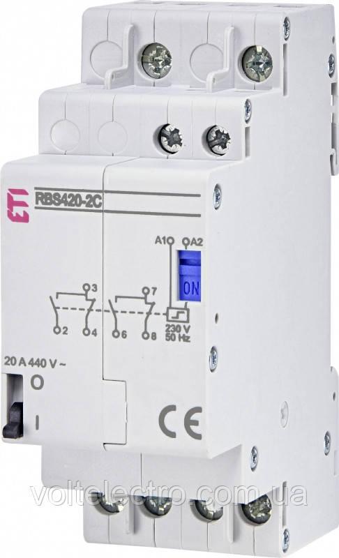 Контактор імпульсний RBS420-2С-230V AC 20А