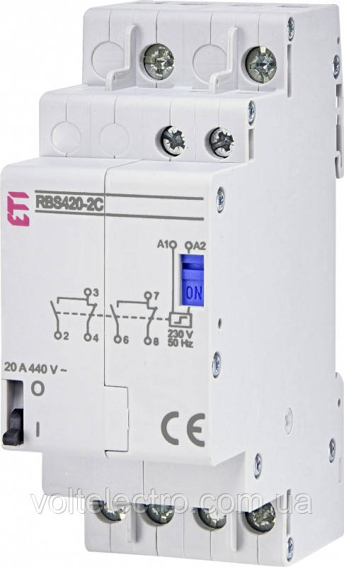 Контактор импульсный RBS420-2С-230V AC 20А