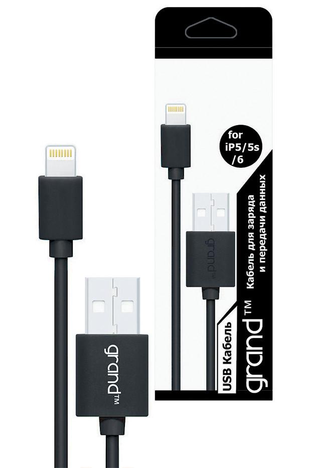 USB кабель для iPhone 5/6 Grand Black