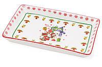 Тарелка фарфоровая рождественская Снеговики Bona Di 283-108, фото 1