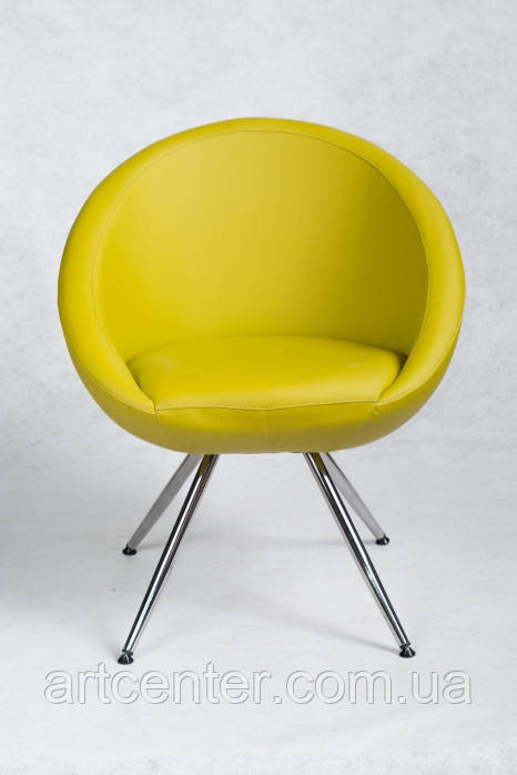 Кресло на ножках Marbino 4Н (Home) Soft  (желтое)