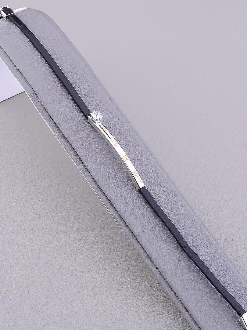 Браслет Saiya Фианит 20 см родиевое покрытие