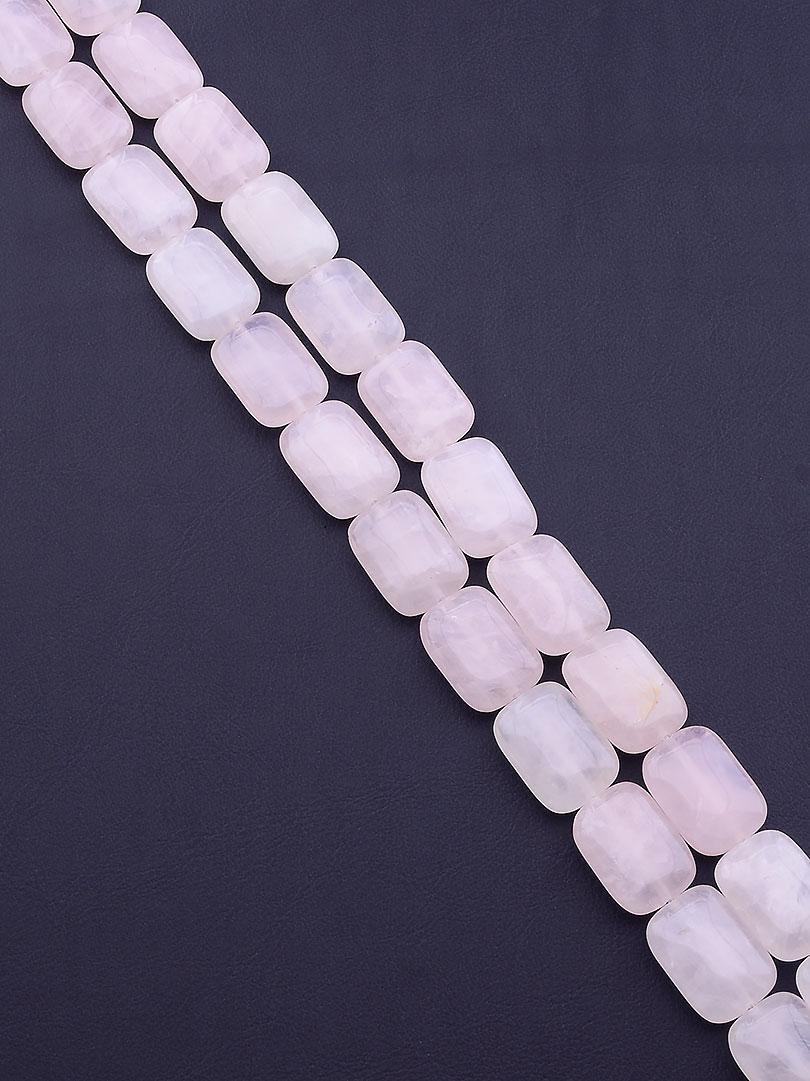 Заготовка для бус и браслетов нить из натурального камня Розовый кварц 40 см  сертификаты на камни