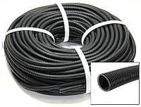 Гофра для проводки разрезная диаметр 5 мм (25м) пластик