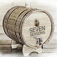 Бочка дубовая (жбан) для напитков Seven Seasons™, 15 литров латунь