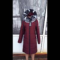 Женская зимняя куртка в больших размерах  в стиле футляр