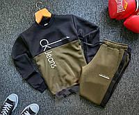 Спортивный костюм ЗИМНИЙ мужской Calvin Klein khaki