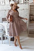 Женское стильное платье из креп - костюмки