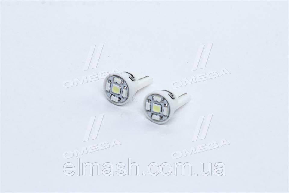 Лампа LED б/ц габарит і панель приладів T10-5 SMD 24V WHITE 2шт.