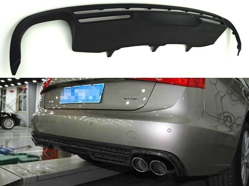 Диффузор юбка обвес заднего бампера Audi A6 C7 стиль ABT