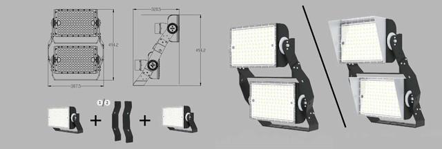 Наборной светодиодный прожектор Космос CO T600 2 блока
