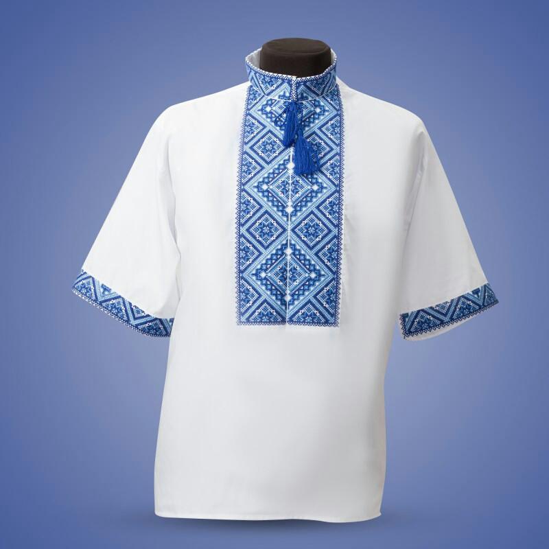 Сорочка вышиванка из ,белого льна короткий рукав