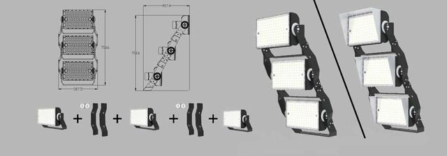 Наборной светодиодный прожектор Космос CO T600 3 блока